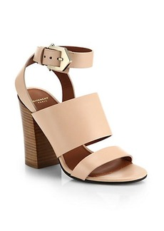 Givenchy Block-Heel Leather Sandals