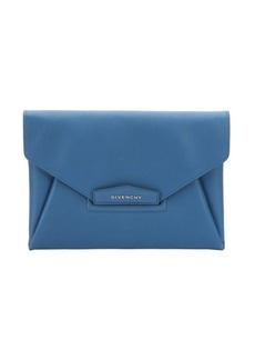 Givenchy blue leather envelope clutch