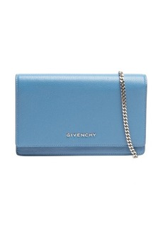 Givenchy blue leather 'Pandora' chain strap convertible shoulder bag