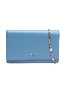 Givenchy blue leather 'Pandora' chain strap convertible shoulder bag