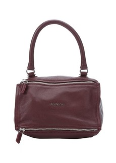 Givenchy bordeaux goatskin leather top zip top handle bag