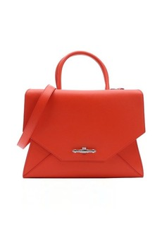 Givenchy bright orange leather large 'Obsedia' convertible top handle bag