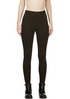 Givenchy Brown and Black Zipped Cuff Leggings
