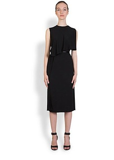 Givenchy Capelet Jersey Dress