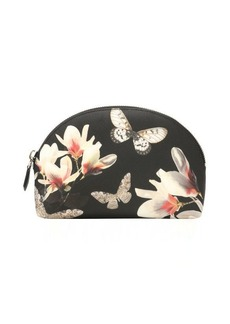 Givenchy charcoal and ivory floral print 'Iconic' cosmetic travel bag