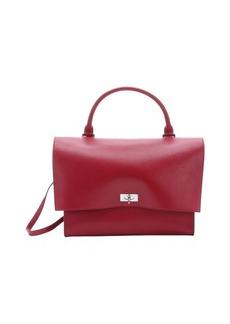 Givenchy cherry red lambskin medium 'Shark' convertible top handle bag