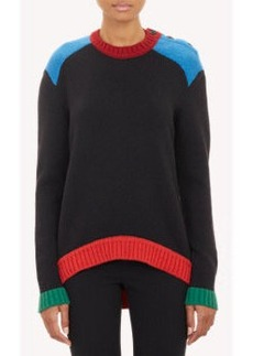 Givenchy Colorblock Button Shoulder Sweater