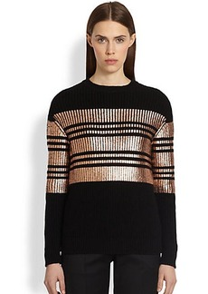 Givenchy Copper-Printed Stripe Sweater