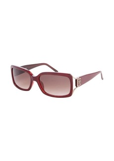 Givenchy cranberry acrylic rectangle frame sunglasses