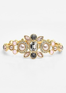 Givenchy Crystal & Faux Pearl Bracelet