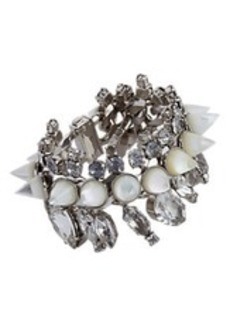 Givenchy Crystal & Mother of Pearl Cone Bracelet