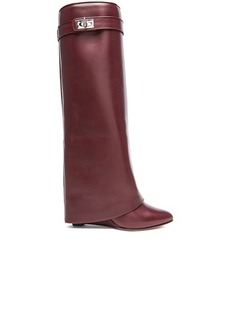 """GIVENCHY <div class=""""product_name"""">Shark Lock Tall Leather Pant Boots</div>"""