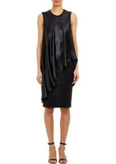 Givenchy Draped Overlay Sheath Dress