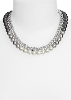 Givenchy Faux Pearl & Chain Collar Necklace (Nordstrom Exclusive)