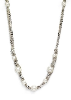 Givenchy Faux Pearl & Chain Long Necklace