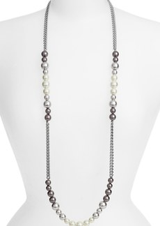 Givenchy Faux Pearl & Chain Long Necklace (Nordstrom Exclusive)