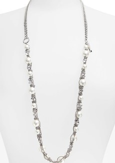 Givenchy Faux Pearl & Chain Necklace