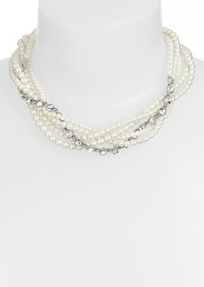 Givenchy Faux Pearl & Crystal Torsade Necklace