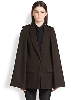 Givenchy Felted Wool Cape Coat