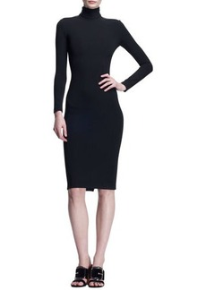 Givenchy Fitted Zip-Shoulder Dress