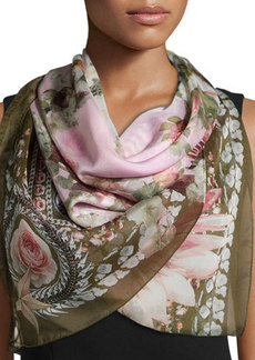Givenchy Floral-Printed Silk Scarf