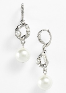 Givenchy Glass Pearl Drop Earrings
