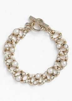Givenchy Glass Pearl Link Bracelet
