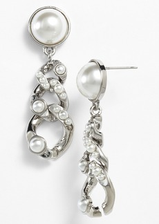 Givenchy Glass Pearl Link Drop Earrings