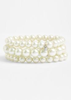 Givenchy Glass Pearl Stretch Bracelets (Set of 3)