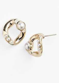 Givenchy Glass Pearl Stud Earrings