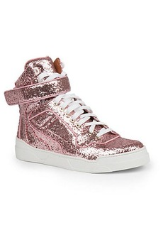 Givenchy Glitter & Leather Tyson High-Top Sneakers