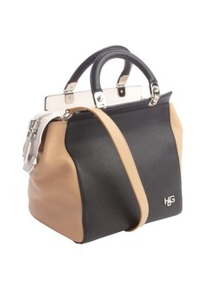 Givenchy grained leather tri-color colorblock top handle bag