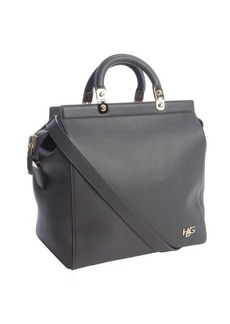 Givenchy grey eather 'HDG' convertible tote bag