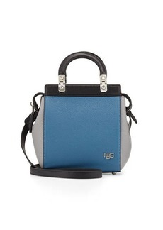 Givenchy HDG Top-Handle Mini Goat Leather Crossbody Bag, Black/Blue/Gray