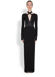 Givenchy Jersey Satin-Trim Gown