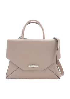 Givenchy khaki leather large 'Obsedia' convertible top handle bag