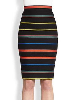 Givenchy Knit Stripe Pencil Skirt