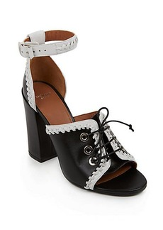 Givenchy Lace-Up Leather Sandals