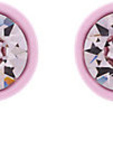 """Givenchy Lacquer & Crystal Magnetic """"Show"""" Earrings"""