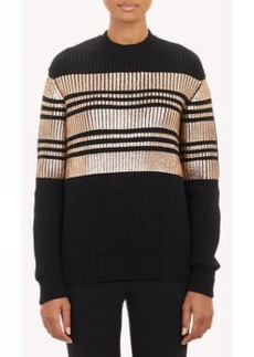 Givenchy Lamé-Stripe Pullover Sweater