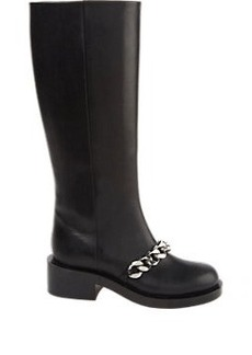 Givenchy Laurana Chain-Link Knee Boots