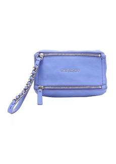 Givenchy lavender goatskin 'Pandora' wristlet pouch