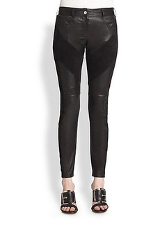 Givenchy Leather & Suede Leggings