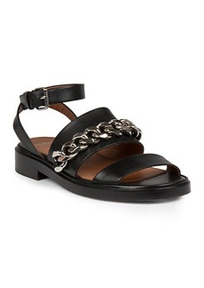Givenchy Leather Chain-Detail Sandals