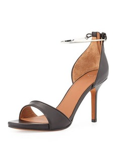 Givenchy Leather Metal-Cuff Sandal