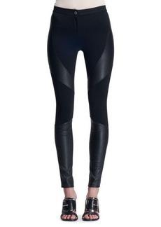 Givenchy Leather-Paneled Punto Milano Leggings