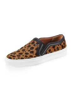 Givenchy Leopard-Print Calf Hair Slip-On Sneaker