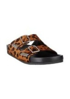 Givenchy Leopard-Print Haircalf Double-Strap Sandals