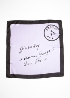 Givenchy lilac silk france postage printed scarf