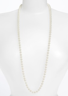 Givenchy Long Glass Pearl Necklace